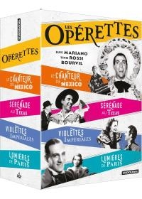 Opérettes : le chanteur de Mexico ; Lumières de Paris ; Violettes impériales ; Sérénade au Texas