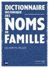 Dictionnaire historique des noms de famille