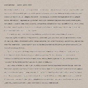Suite : april 2020 / Brad Mehldau, p | Mehldau, Brad. Compositeur. Piano