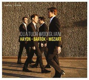Haydn Bartok Mozart / Quatuor Modigliani, ens. instr.   Haydn, Joseph. Compositeur